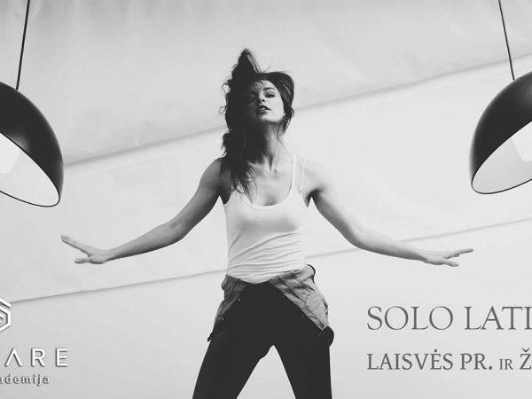 Solo latino šokiai Vilniuje Laisvės pr. ir žveryne